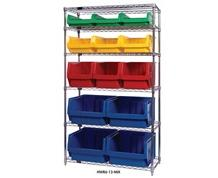 CHROME WIRE SHELVING UNITS WITH MAGNUM BINS